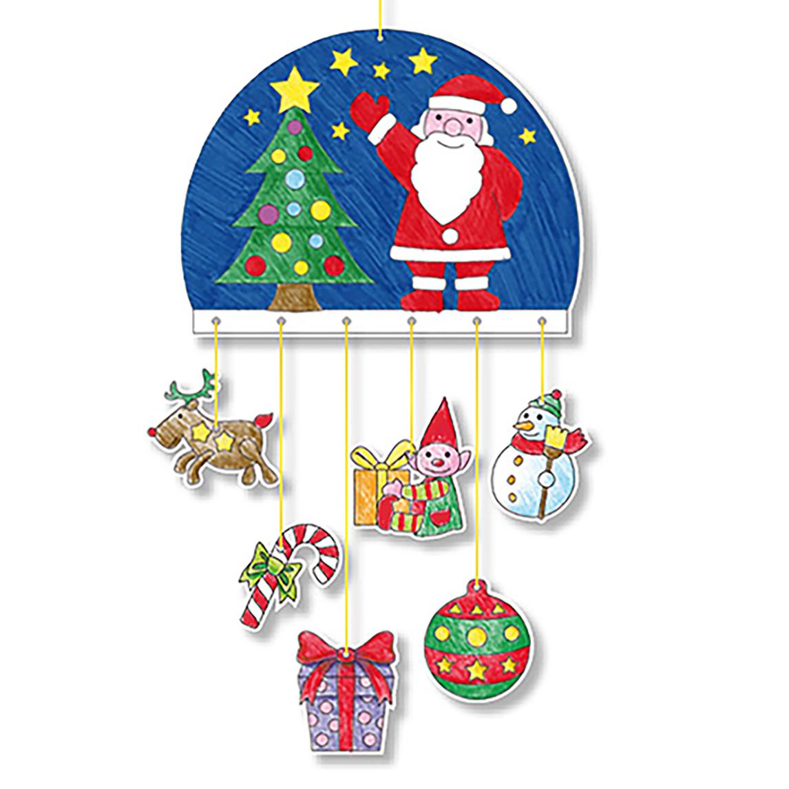 Coloriage mobile globe de Noël