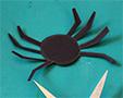 Découper l'araignée