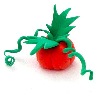 Citrouille, modelage citrouille