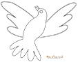 Modèle de colombe à imprimer