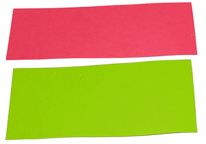 Découper 2 rectangles de couleur