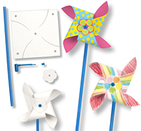 Moulin origami le moulin vent - Comment fabriquer un moulin a vent en papier ...