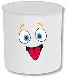 Faire le visage sur le mug