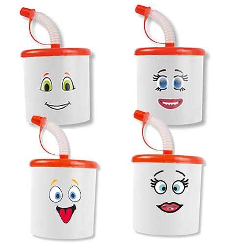 Mug décoré de stickers
