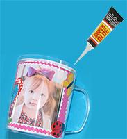 Coller les 2 parties du mug