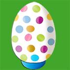 Oeuf de Pâques à pois