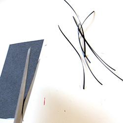 Découper des lamelles de papier