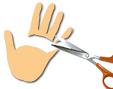 Découper les doigts