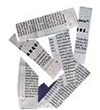 Découper des bandes de papier