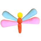 Coller les ailes du papillon