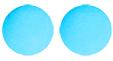 Faire 2 boules bleues