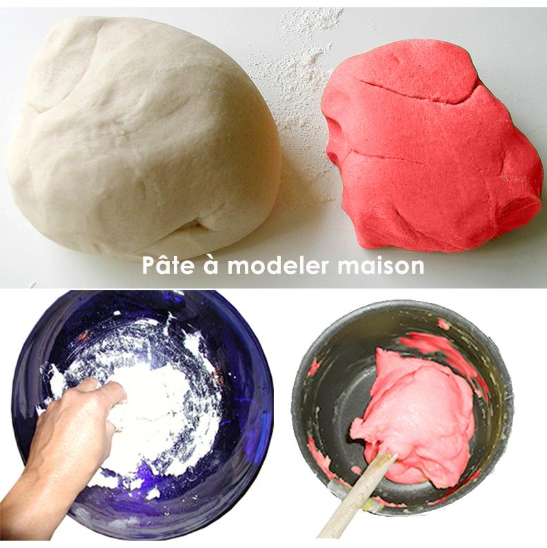 La pâte à modeler maison avec cuisson