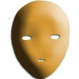 Peindre le masque en marron clair