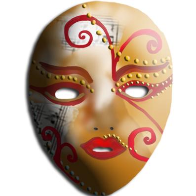 Masque de Venise peint