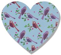 Recouvrir le petit coeur de magic paper oiseaux