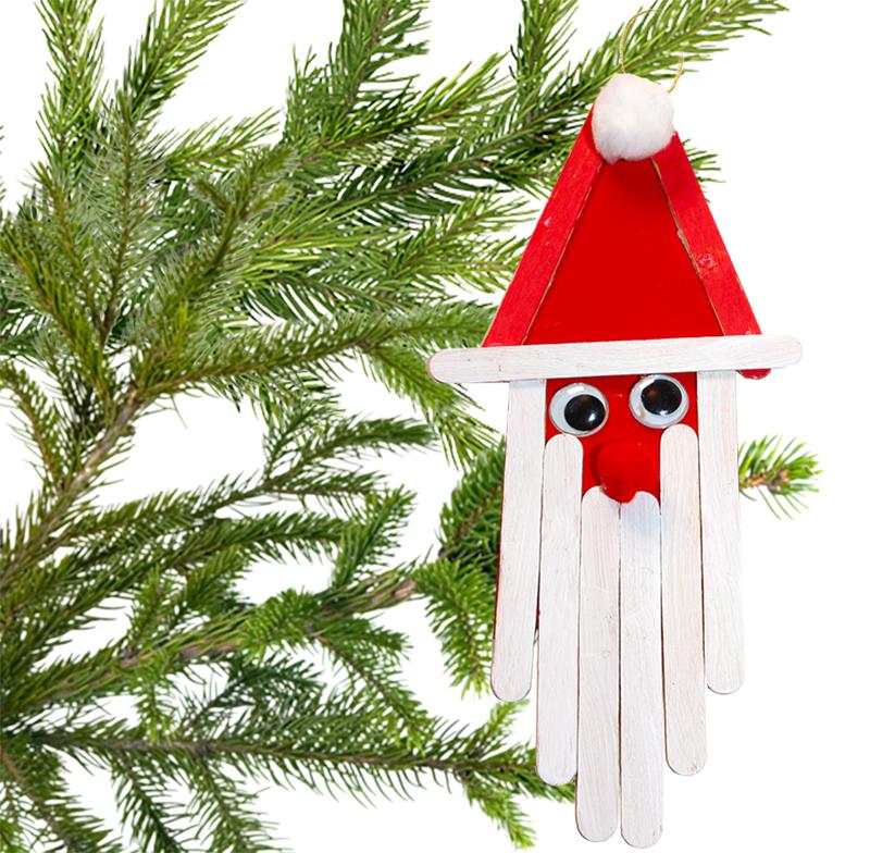 Décoration Père Noël bâtons bois