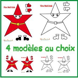 4 modèles de pere noel étoile