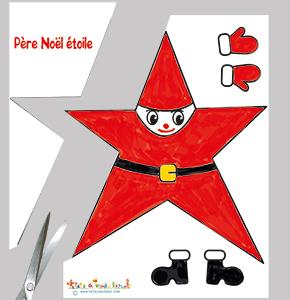 Découper le Père Noël étoile
