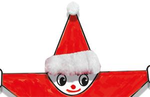Coller du coton sur le bonnet du Père Noël
