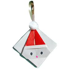 Tête de père Noël origami