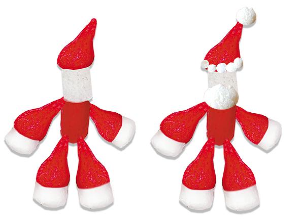 Faire la tête du Père Noël flocons de maïs