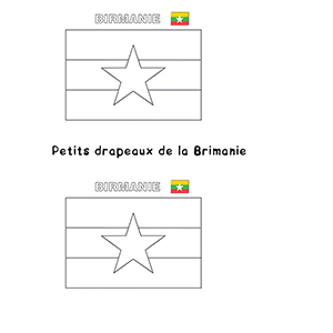 Mini drapeau de la Birmanie