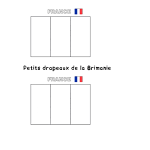 Petits drapeaux français à colorier