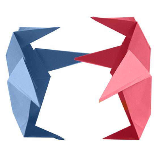 Pingouins origami