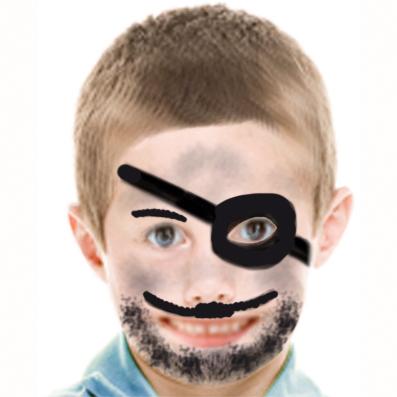 Déguisement de pirate avec un maquillage