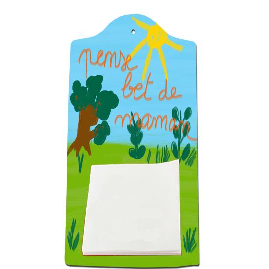 Planchette mémo décorée