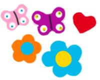 Peindre les fleurs et papillons