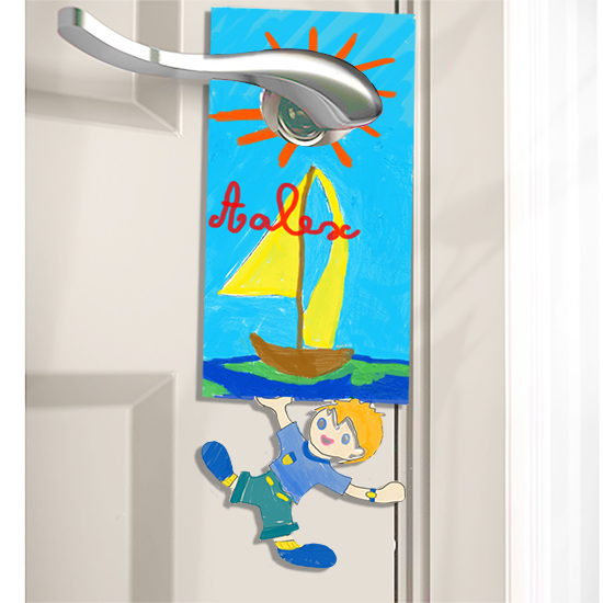 Plaque de porte personnalisée : garçon - plaque de porte sur Tête à ...