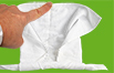 Poser le doigt sur la serviette