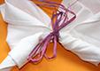 Attacher la serviette papillon