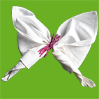 Pliage serviette papillon