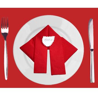 Pliage serviette Père Noël