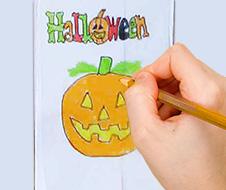 Décorer la pochette d'Halloween