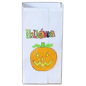 Coller la pochette à bonbons d'halloween