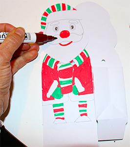 Colorier le lutin du Père Noël sur la pochette