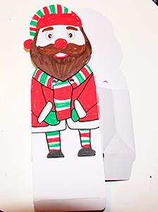 Colorier le visage du lutin du Père Noël