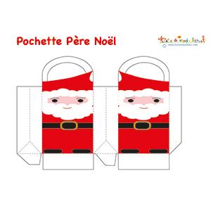 Modèle de pochette Père Noël
