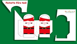 Découper la pochette Père Noël