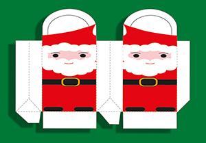 Pochette Père Noël découpée