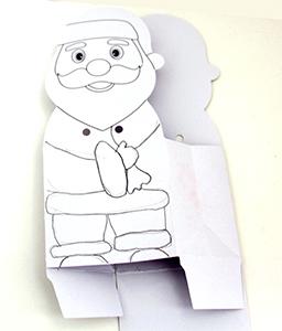 Dessiner le Père Noël sur la pochette Père Noël
