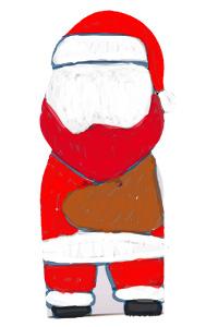 Colorier le dos du Père Noël