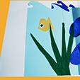 décorer en collant des algues et des poissons