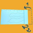préparer la bande de papier mer premier plan