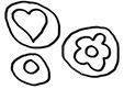 Motifs à la manière de Niki de st Phalle