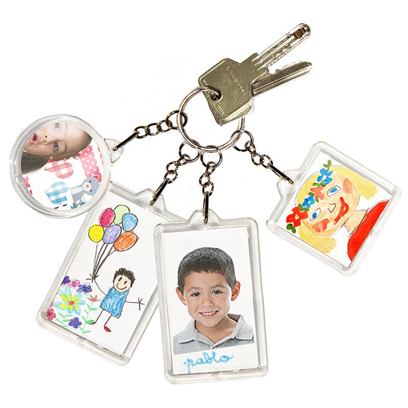 Porte-clés personnalisés de formes variées rentrée scolaire