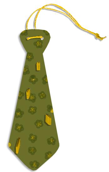 Porte-cravates vert